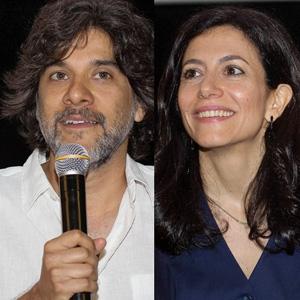 """Gustavo Rosa de Moura e Marina Person, diretor e atriz de   """"Canção da Volta..."""